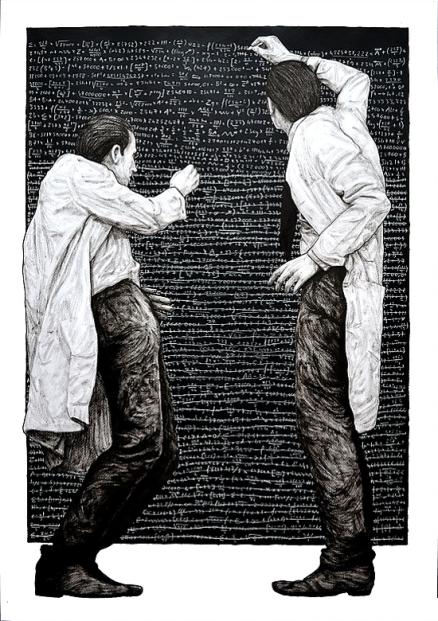 Levalet. Progrès Encre de chine sur papier - 2015. http://www.levalet.xyz/inside