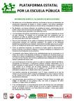 13-05-31 Aclaraciones del calendario movilizaciones Plataforma Estatal por la Escuela Publica