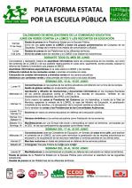 13-05-31 Calendario de movilizaciones Plataforma Estatal por la Escuela Publica