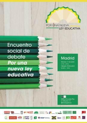 """Encuentro social de debate… """"Por una nueva ley educativa"""""""