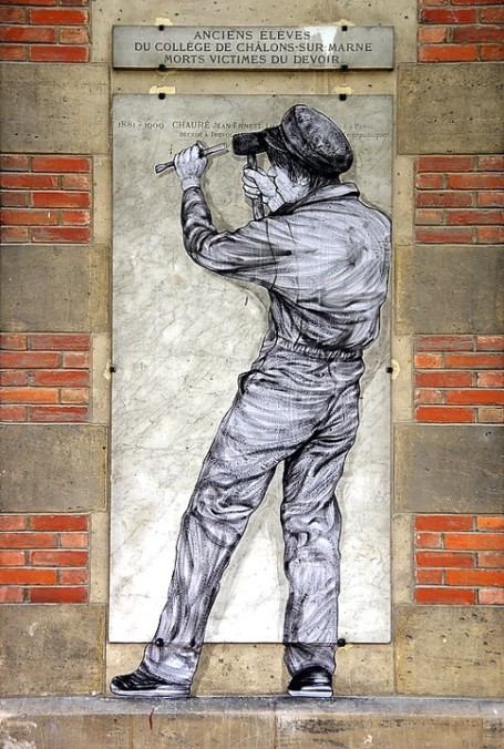 Levalet for Lycée Pierre Bayen in Châlons, France, 2017