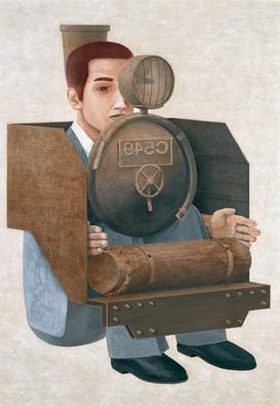 Tetsuya Ishida. Hombre locomotora de vapor. 1995.